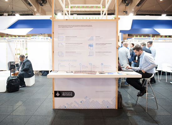 Estand de l'Ajuntament de Barcelona a l'Smart City Expo World Congress 2015