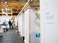 Estand del Ayuntamiento de Barcelona en el Smart City Expo World Congress 2015
